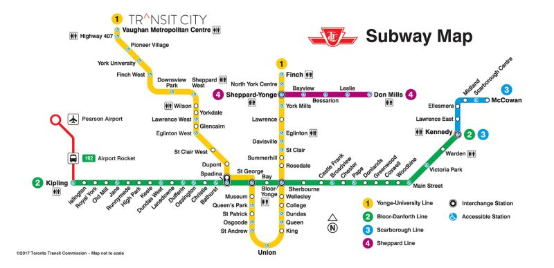 Transit City map