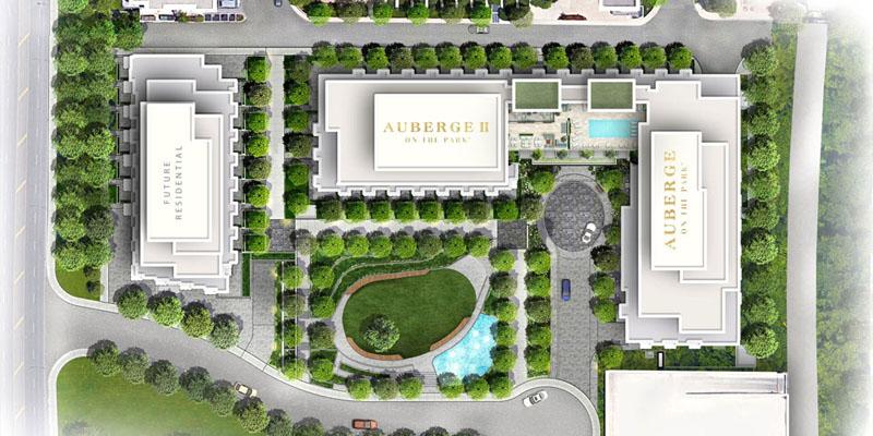 Auberge II on the Park - site plan