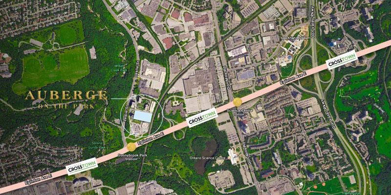 Auberge II on the Park - map