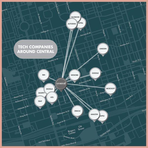 Central Condos map