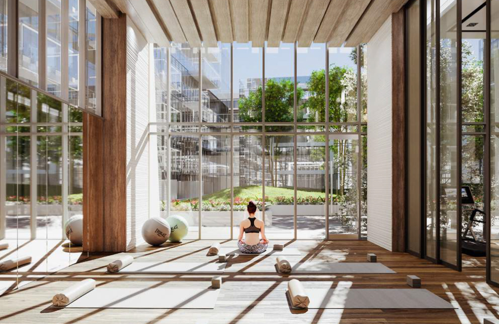M2M Condos - yoga room