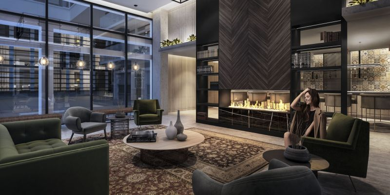 Empire Phoenix Condos - lobby lounge