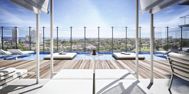 Empire Phoenix Condos - outdoor terrace and pool