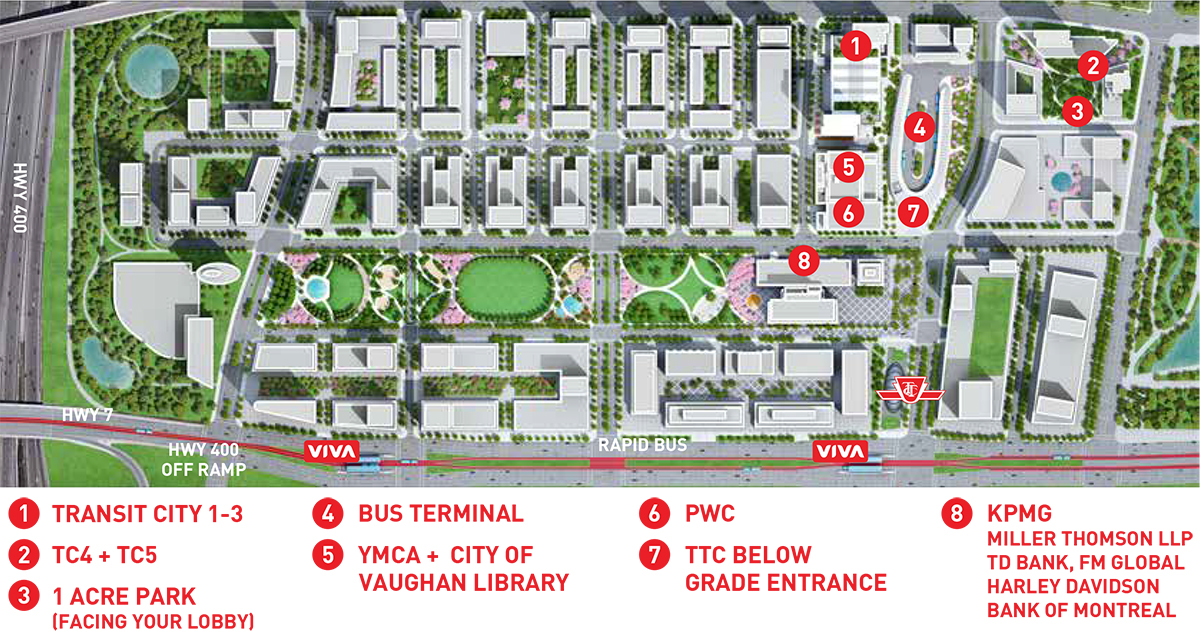 SmartCentres Place master plan